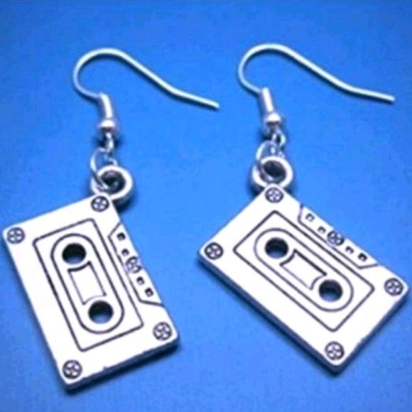 Jewelry - Cassette tape Earrings Jewlrey womens music